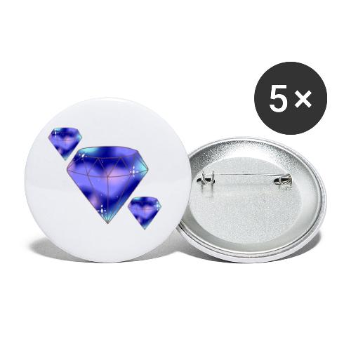 Diamonds - Buttons/Badges stor, 56 mm (5-pack)