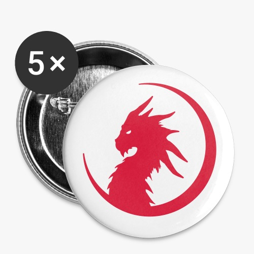 Dragon Moon Silhouette - Buttons/Badges stor, 56 mm (5-pack)