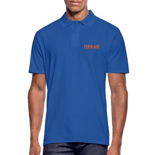 FEIERLAUNE - Print in orange - Männer Poloshirt