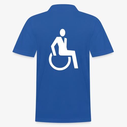 Sjieke rolstoel gebruiker symbool - Mannen poloshirt