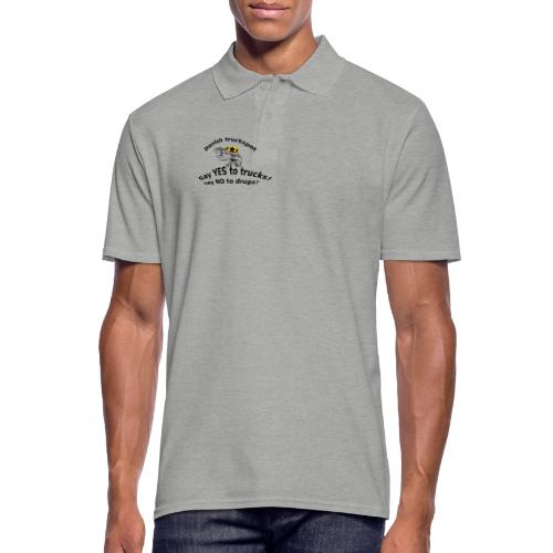 Say YES to trucks! Say NO to drugs - Herre poloshirt