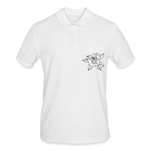 Black line rose. - Men's Polo Shirt