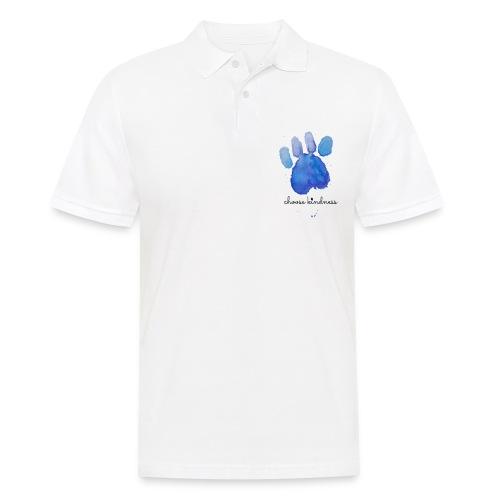 Tierfreund Choose Kindness Hundepfote Wasserfarben - Männer Poloshirt