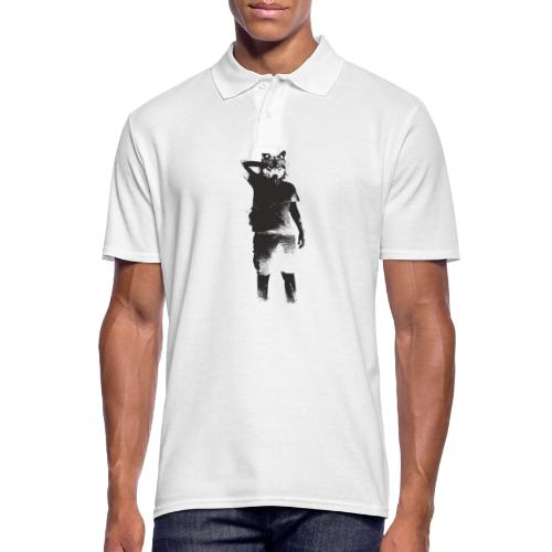 illustration loup noir - Polo Homme