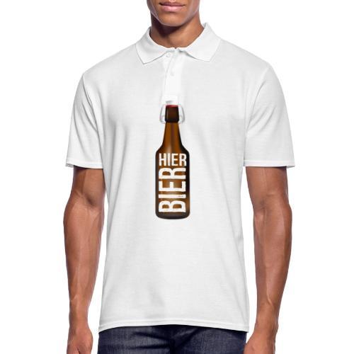 Hier Bier - Shirt - Männer Poloshirt