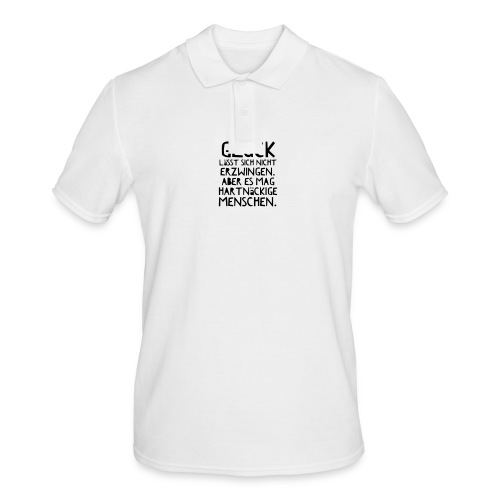 Glück (Spruch) - Männer Poloshirt
