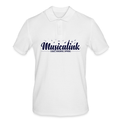 Musicalink blue - Polo Homme