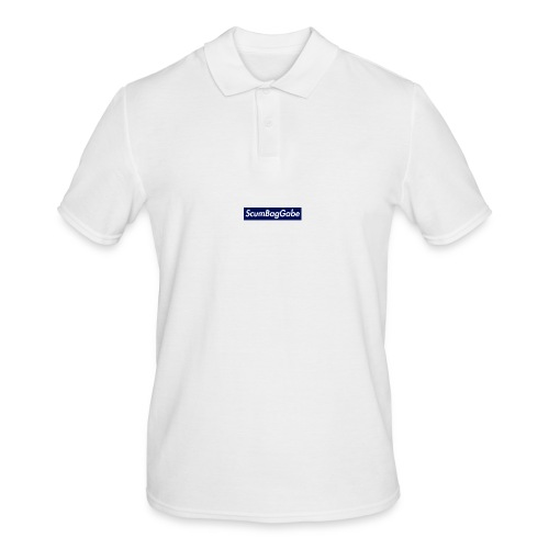 ScumBagGabe Blue XL Logo - Men's Polo Shirt