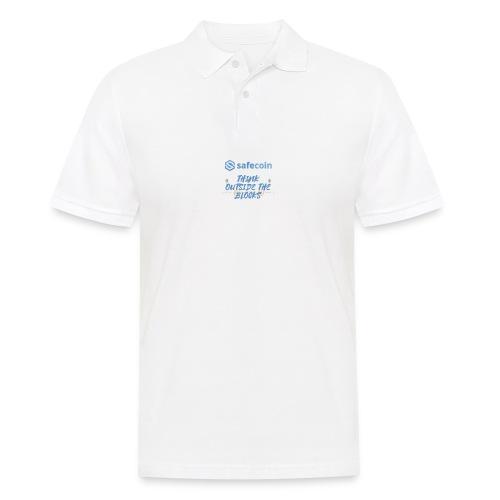 SafeCoin; think outside the blocks (blue) - Men's Polo Shirt