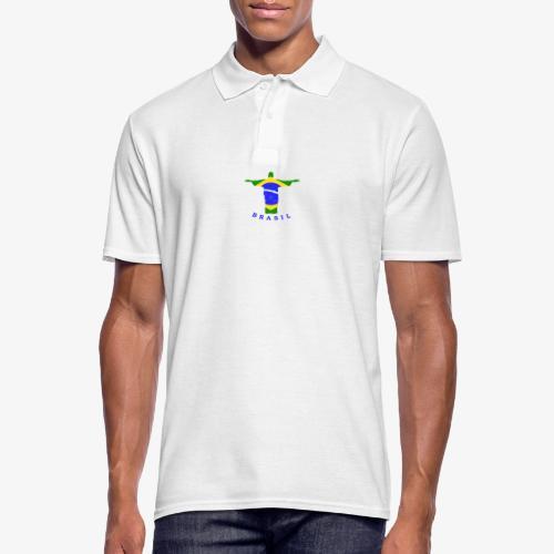 Brasil Flag Statue - Männer Poloshirt