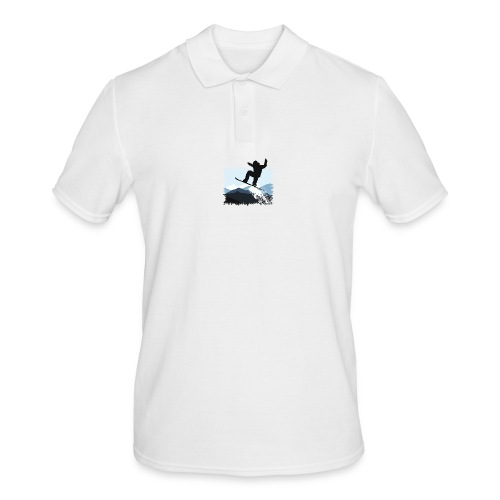 Snowboarder Action Jump | Apresski Shirt gestalten - Männer Poloshirt