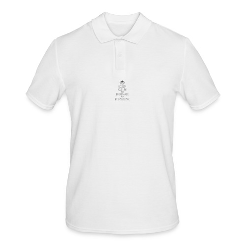 keep calm and prepare for inversion - Men's Polo Shirt