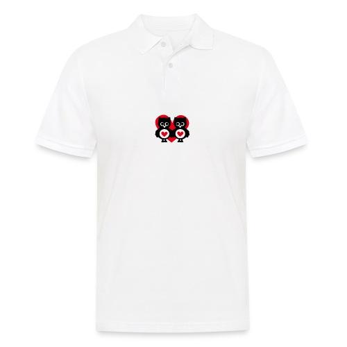 verliebte Eulen - Männer Poloshirt