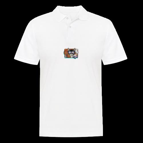 Crime Cat in Shades - Koszulka polo męska
