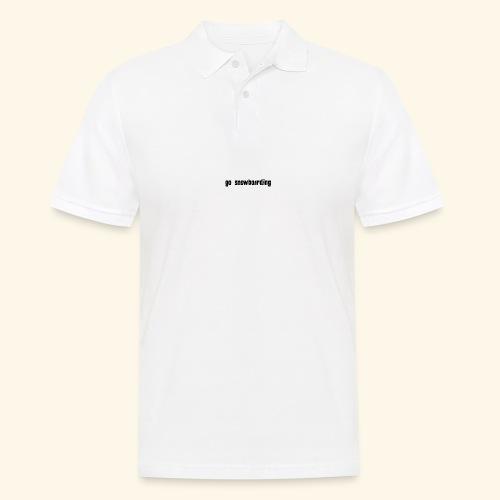 go snowboarding t-shirt geschenk idee - Männer Poloshirt