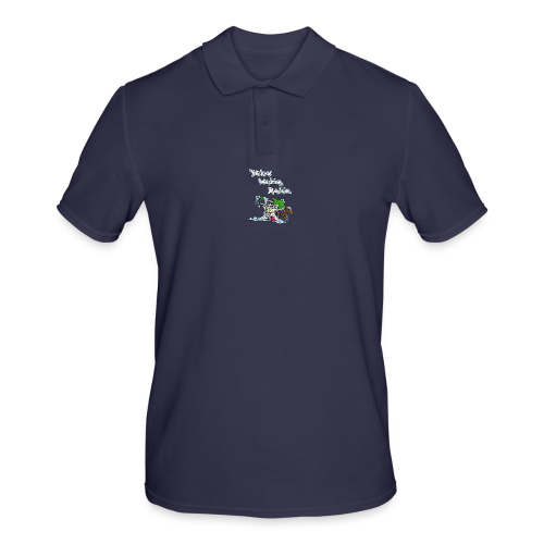 Wicked Washing Machine Cartoon and Logo - Mannen poloshirt