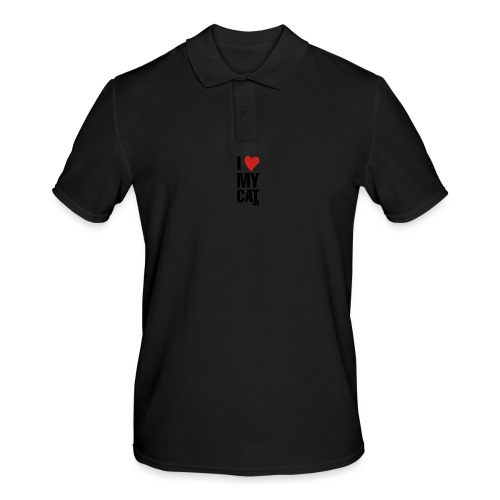 I_LOVE_MY_CAT-png - Polo hombre