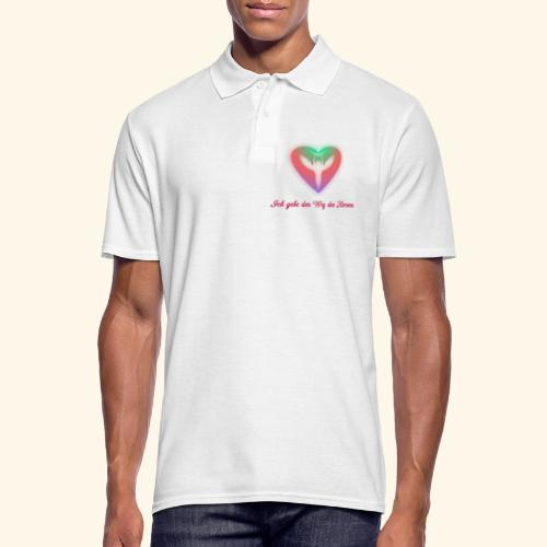 Ich gehe den Weg meines Herzens - Männer Poloshirt