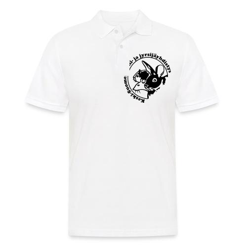 KSKJY logo - musta - Miesten pikeepaita