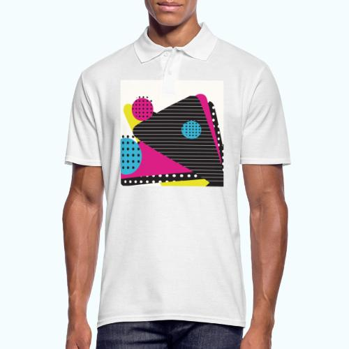 Abstract vintage shapes pink - Men's Polo Shirt