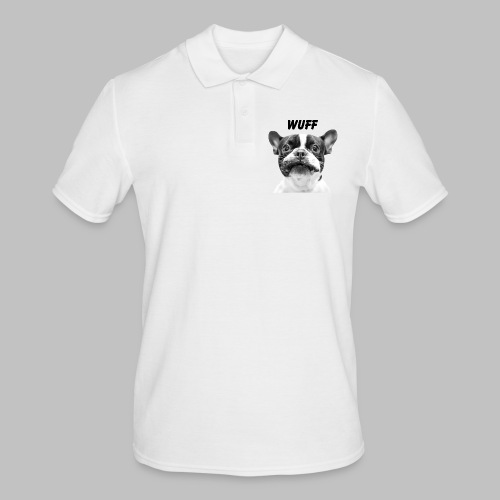 Wuff - Hundeblick - Hundemotiv Hundekopf - Männer Poloshirt