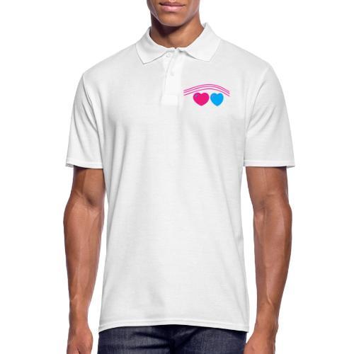 Das Design mit Herz - Männer Poloshirt