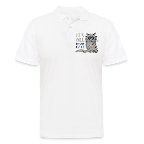 Coole Katze: It's All About Cats - Männer Poloshirt