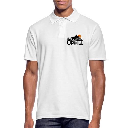 it goes uphill Mountain Outdoor Trekking Wandern - Männer Poloshirt