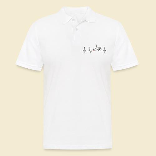 Radball | Heart Monitor Black - Männer Poloshirt