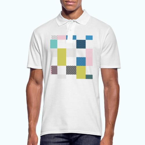 Abstract art squares - Men's Polo Shirt