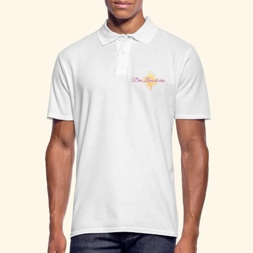 Das Leben ist schön 🌞 - Männer Poloshirt
