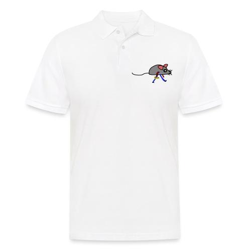 Maus mit Käse Lustiges Motiv - Männer Poloshirt