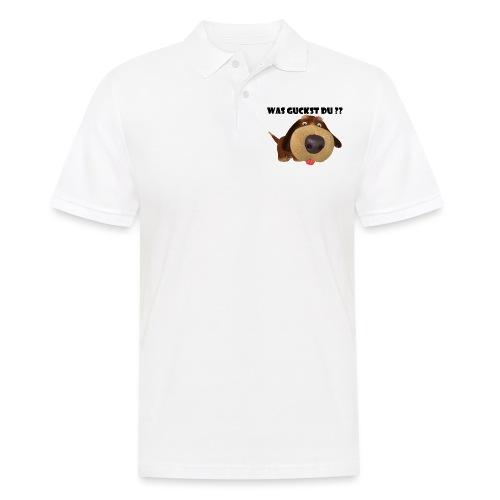 Was guckst du ? - Männer Poloshirt