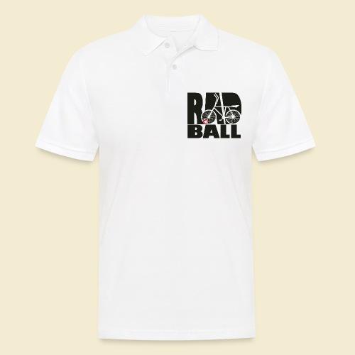 Radball | Typo Black - Männer Poloshirt