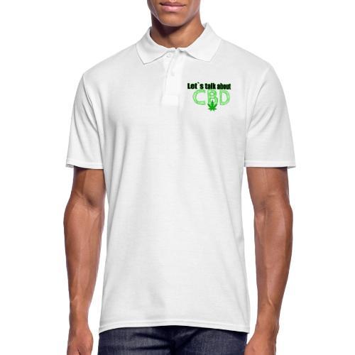 Let´s talk about CBD - Cannabis CBD Öl Merch - Männer Poloshirt