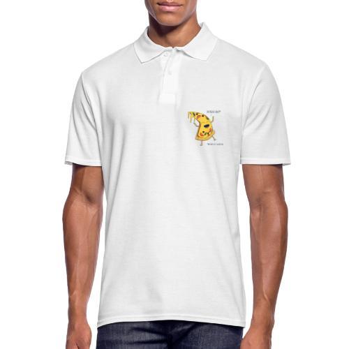 Pizza - Männer Poloshirt