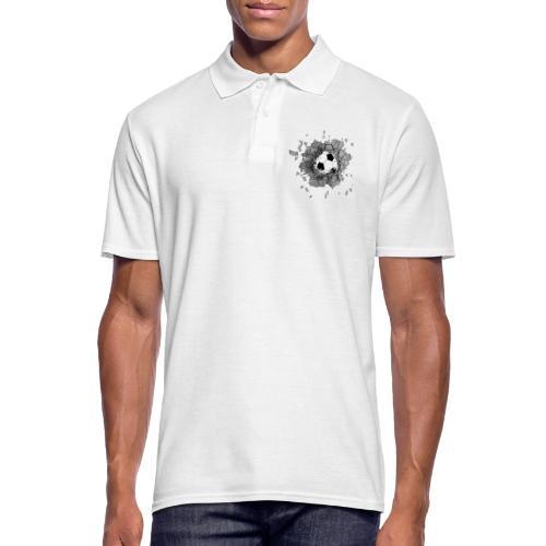 Football durch wand - Männer Poloshirt