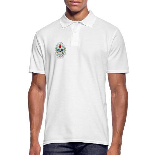 Rose und Diamantschädel - Männer Poloshirt