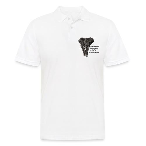 Niemand braucht Elfenbein, außer ein Elefant! - Männer Poloshirt