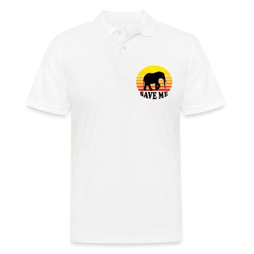 Elefant SAVE ME Schattenriss Sonne - Männer Poloshirt