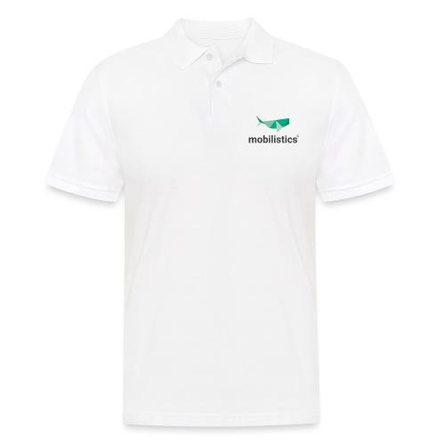 mobilistics logo black - Männer Poloshirt