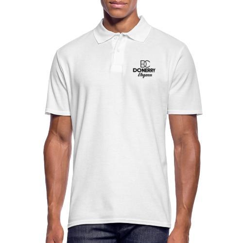 Donerry Elegance Black Logo on White - Men's Polo Shirt