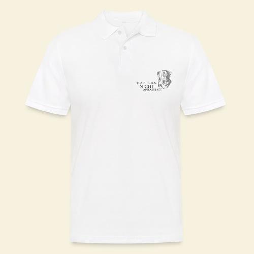 Nur gucken, nicht anfassen - Männer Poloshirt