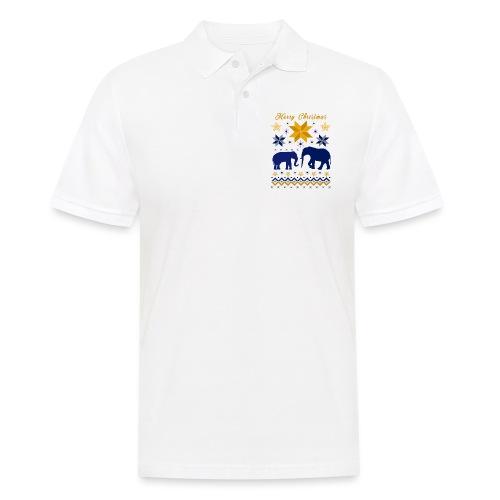 Merry Christmas I Elefanten - Männer Poloshirt