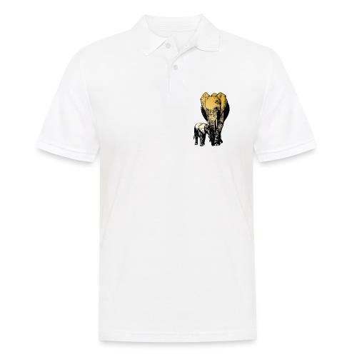 Elefanten - Mutterliebe - Männer Poloshirt