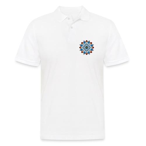 Psychedelisches Mandala mit Auge - Männer Poloshirt