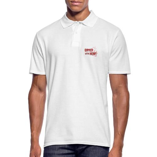 Gamer with heart - Men's Polo Shirt