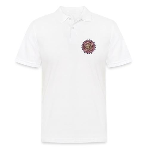 Mandala Sonnenuntergang - Männer Poloshirt