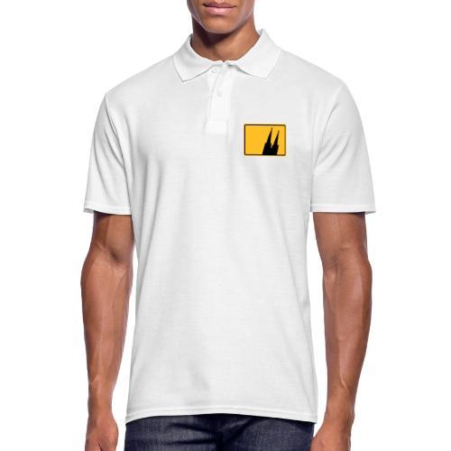 Kölner Dom Köln Ortsschild - Männer Poloshirt