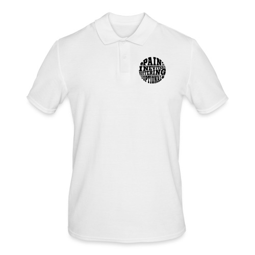 Pain is Inevitable Suffering is Optional (Hockey) - Men's Polo Shirt